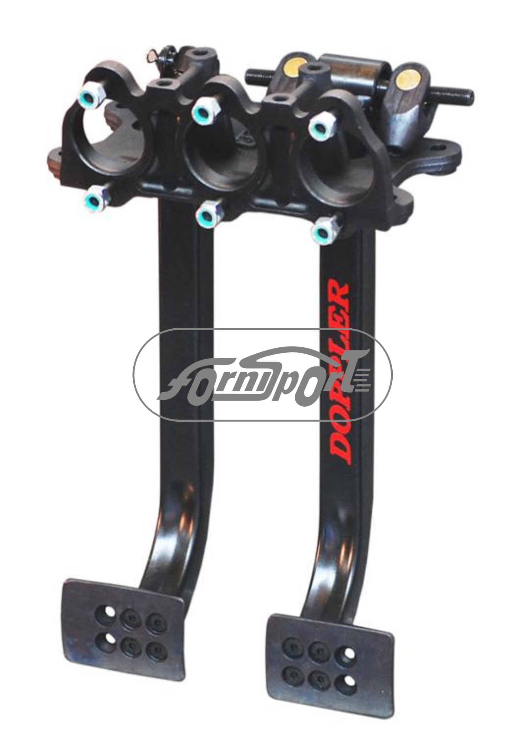 Pedalera colgante  Doppler c/eje 7/16 Regulador no incorporado 9220 BLACK