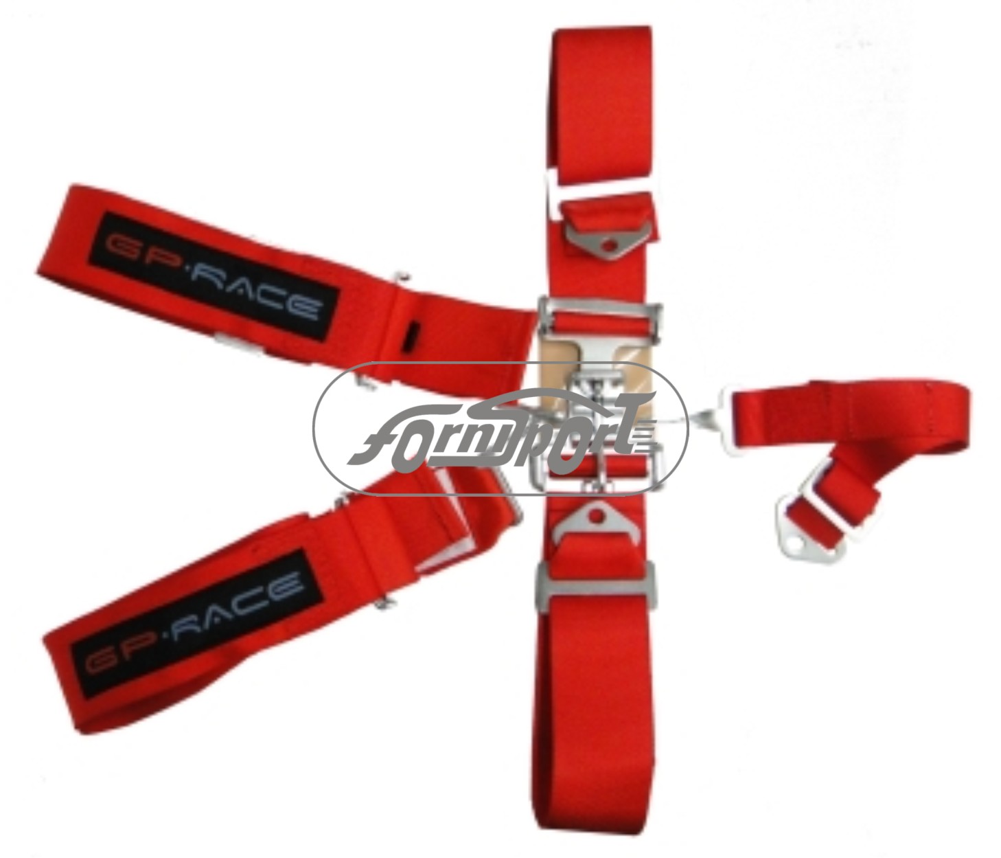 "Cinturones 3"" 5 puntas heb. simple rojo GP Race"